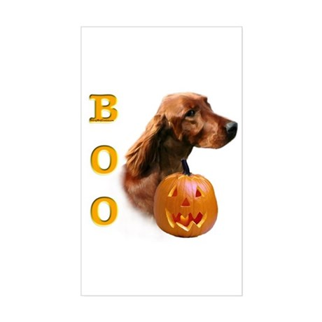 Irish Setter Boo Rectangle Sticker