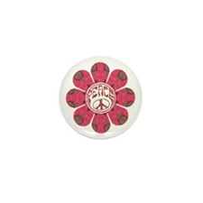Peace Flower - Affection Mini Button (100 pack)
