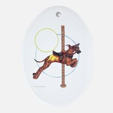 Carousel Brindle Oval Ornament