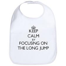 Keep Calm by focusing on The Long Jump Bib