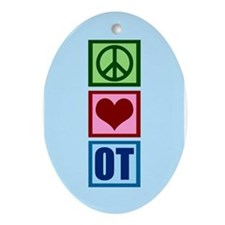 OT Blue Ornament (Oval)
