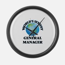 World's Sexiest General Manager Large Wall Clock