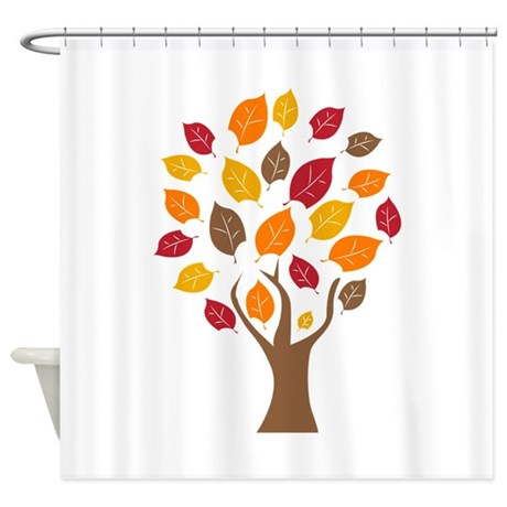 Fall Tree Shower Curtain By Windmill20