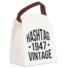 Humor 1947 Hashtag Vintage Canvas Lunch Bag