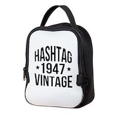 Humor 1947 Hashtag Vintage Neoprene Lunch Bag