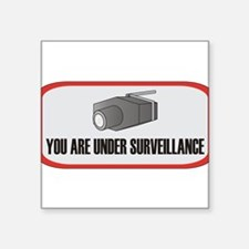 "Cute Under surveillance Square Sticker 3"" x 3"""