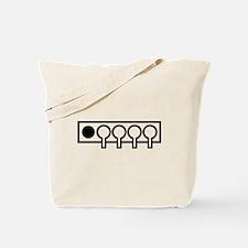 Biathlon shooting target Tote Bag