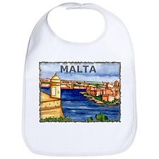 Vintage Malta Art Bib