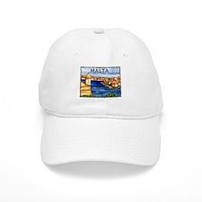 Vintage Malta Art Baseball Baseball Cap