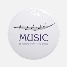 Music For Soul Ornament (Round)