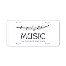 Music For Soul Aluminum License Plate