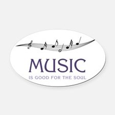 Music For Soul Oval Car Magnet