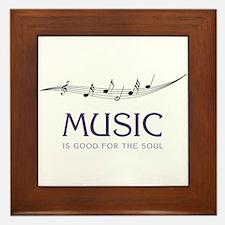 Music For Soul Framed Tile