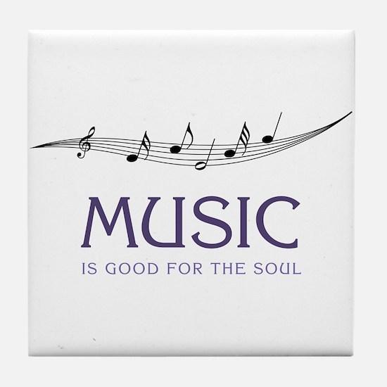 Music For Soul Tile Coaster