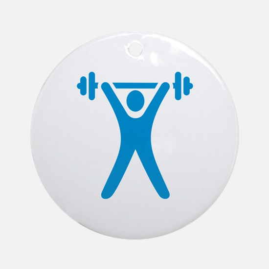 Weightlifting icon Ornament (Round)