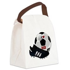 I Love Soccer Canvas Lunch Bag