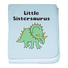 Little Sistersaurus baby blanket