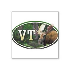 "Funny Vermont Square Sticker 3"" x 3"""