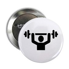 """Weightlifting powerlifting 2.25"""" Button"""