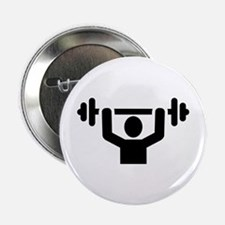 """Weightlifting powerlifting 2.25"""" Button (100 pack)"""