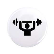 """Weightlifting powerlifting 3.5"""" Button"""