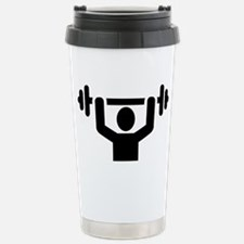 Weightlifting powerlift Stainless Steel Travel Mug