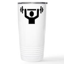 Weightlifting powerlift Travel Mug