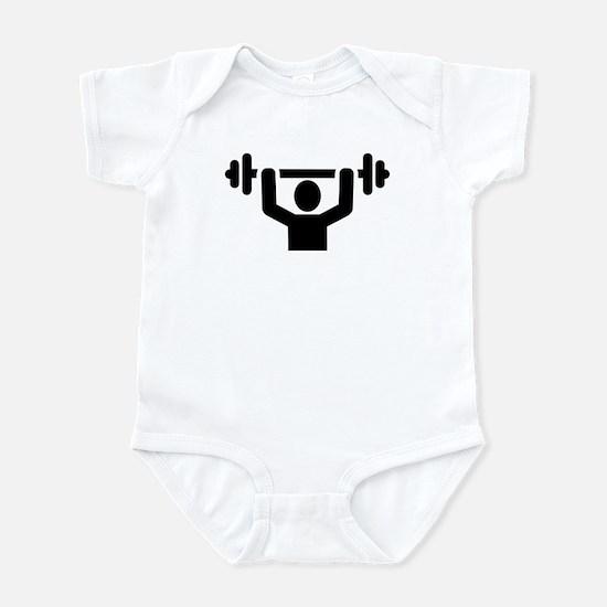 Weightlifting powerlifting Infant Bodysuit