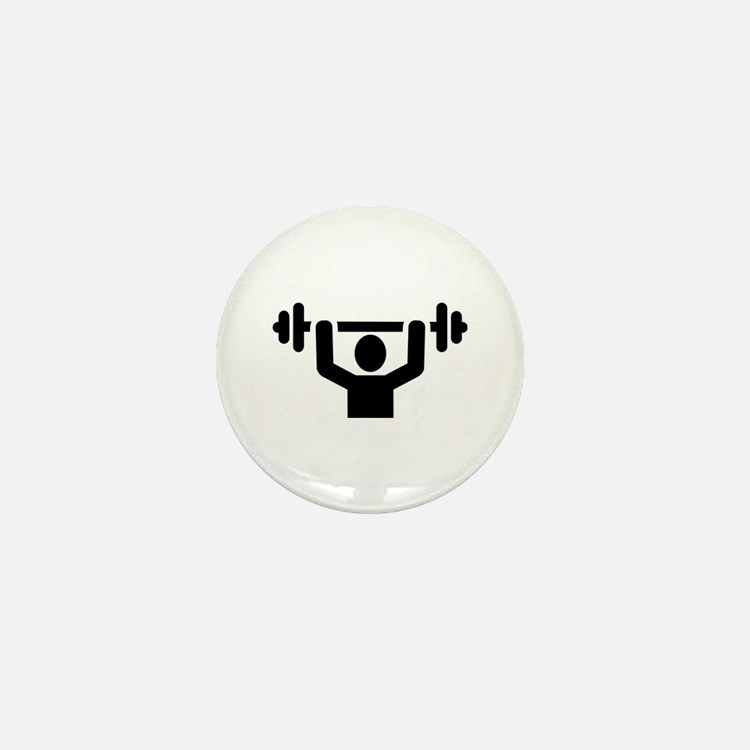 Weightlifting powerlifting Mini Button