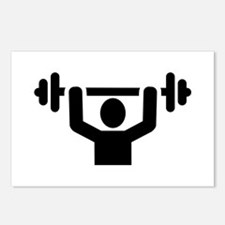 Weightlifting powerliftin Postcards (Package of 8)