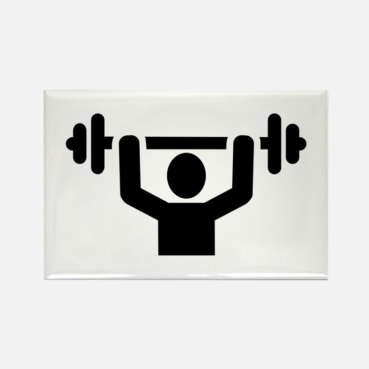 Weightlifting powerlift Rectangle Magnet (10 pack)