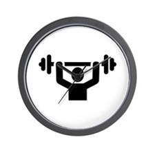 Weightlifting powerlifting Wall Clock