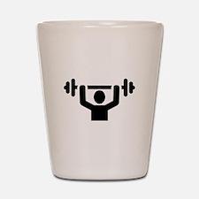 Weightlifting powerlifting Shot Glass
