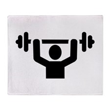 Weightlifting powerlifting Throw Blanket