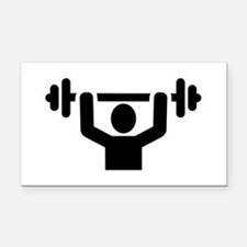 Weightlifting powerlifting Rectangle Car Magnet