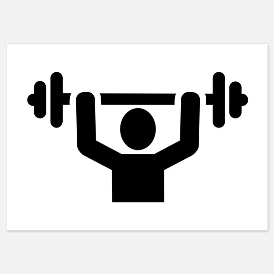 Weightlifting powerlifting Invitations