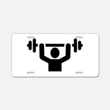 Weightlifting powerlifting Aluminum License Plate