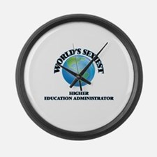 World's Sexiest Higher Education Large Wall Clock
