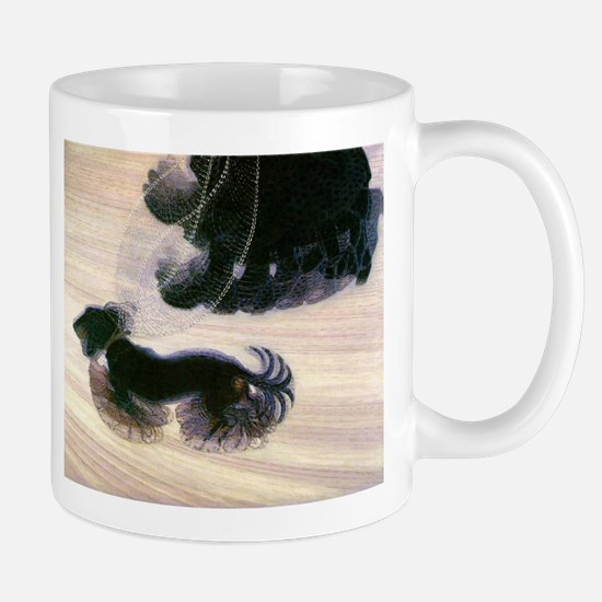 Dynamism of a Dog on a Leash; Vintage Art Mugs