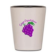 Grape Expectations Shot Glass