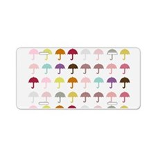 Cute Umbrellas Pattern Aluminum License Plate