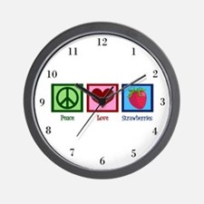 Peace Love Alpacas Wall Clock