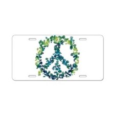 Meditation Flower Peace Aluminum License Plate