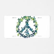 Meditation Flower Peace Aluminum License Plate