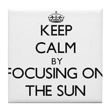 Keep Calm by focusing on The Sun Tile Coaster