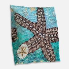 Sea Stars Burlap Throw Pillow