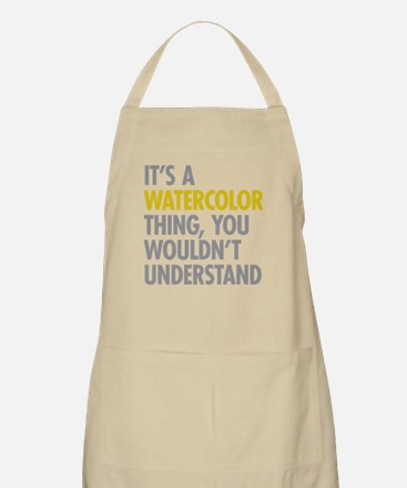 Its A Watercolor Thing Apron