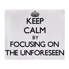 Keep Calm by focusing on The Unfores Throw Blanket