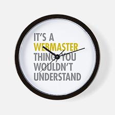 Its A Webmaster Thing Wall Clock