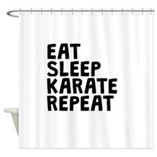 Eat Sleep Karate Repeat Shower Curtain